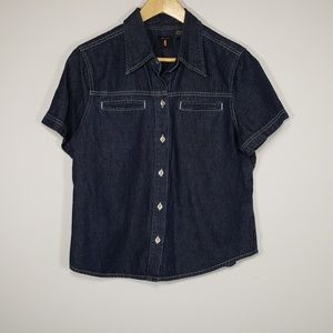 Levis dark denim shirt
